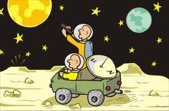 月亮流浪者 库存照片