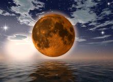 月亮海洋桔子 免版税库存图片