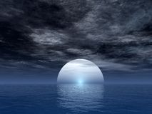 月亮海洋 免版税库存照片