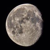 月亮火山口和细节观察颜色版本 免版税库存图片