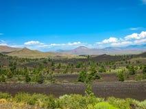 月亮爱达荷的火山口 免版税图库摄影