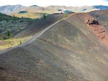 月亮爱达荷的火山口 图库摄影