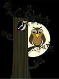 月亮猫头鹰 皇族释放例证