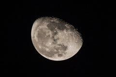 月亮的特写镜头 承担12.03.2013在莫斯科,俄国 10 2014年在以色列 免版税库存图片
