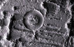 月亮的表面 空间 沙子的纹理在月亮的 库存图片