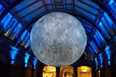 月亮的被阐明的模型-户内 免版税图库摄影