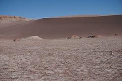 月亮的谷,阿塔卡马,智利 免版税库存照片