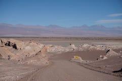 月亮的谷,阿塔卡马,智利 图库摄影