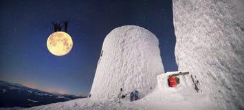 月亮的黑人 免版税库存照片