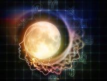 月亮的黄道带 免版税库存图片