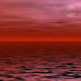月亮红色 库存图片
