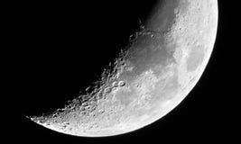 月亮细节在第七月亮天 免版税库存图片