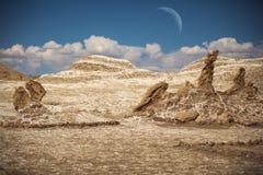 月亮谷在阿塔卡马 库存照片