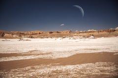 月亮谷在阿塔卡马 图库摄影