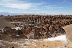 月亮谷的岩层 免版税图库摄影