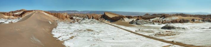 月亮谷的,阿塔卡马沙漠,智利圆形露天剧场 免版税库存图片