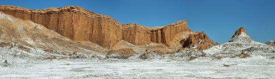 月亮谷的,阿塔卡马沙漠,智利圆形露天剧场 图库摄影