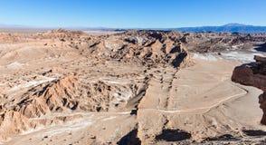 月亮谷视图在阿塔卡马沙漠,智利 图库摄影