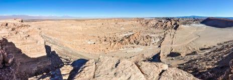 月亮谷视图在阿塔卡马沙漠,智利 免版税库存照片