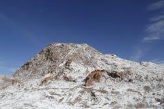 月亮谷,阿塔卡马沙漠,智利的岩层 免版税库存照片