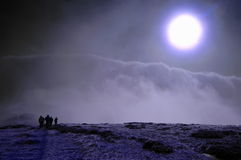 月亮走 免版税库存图片