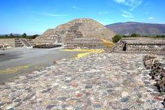 月亮金字塔IX, teotihuacan 图库摄影