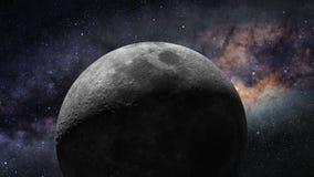 月亮飞行 向量例证