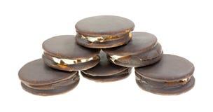 月亮饼堆积了宽弯曲的角度 免版税图库摄影