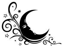 月亮,星,天空 向量例证