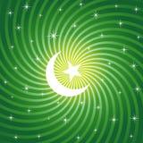 月亮ramadan闪耀 免版税库存图片