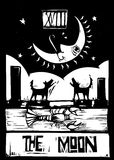 月亮tarot 免版税库存照片