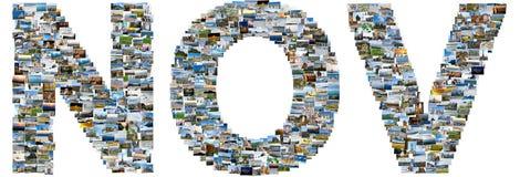 11月做了旅行照片 免版税库存照片