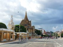 月光亭子在金边-柬埔寨 免版税库存照片