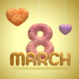 3月八日 妇女的假日 免版税图库摄影