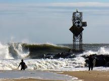 10月冲浪的情况 库存照片