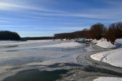 1月冷的Borcea河3 免版税库存图片