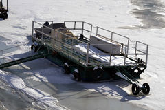 1月冷的Borcea河6 库存图片