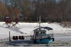 1月冷的Borcea河5 库存照片