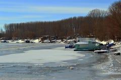 1月冷的Borcea河4 免版税库存照片