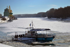 1月冷的Borcea河2 免版税库存照片