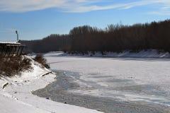 1月冷的Borcea河7 库存图片