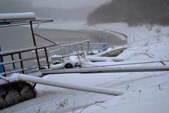 1月冷的Borcea河12 免版税库存照片