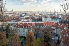 12月出现布拉格都市风景照片 免版税库存照片