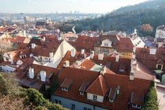 12月出现布拉格都市风景照片 库存照片