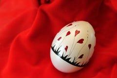 2月华伦泰心脏鸡蛋 免版税库存图片