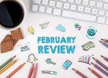 2月回顾,企业概念 浏览生意人服务台办公室万维网白色 库存图片