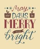 5月圣诞节字法您的天是快活和明亮的 库存图片