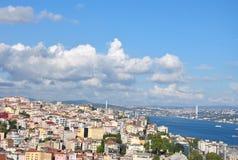 9月在伊斯坦布尔,加拉塔塔 库存照片