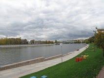 10月在莫斯科公园 免版税库存图片
