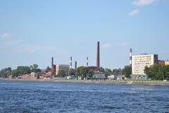 10月堤防和Neva河 免版税库存图片